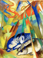 Póster, lienzo o cuadro en metacrilato Sleeping animals - Franz Marc