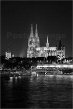 Póster, lienzo o cuadro en metacrilato Cologne Cathedral at night - rclassen