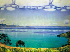Poster / Toile / Tableau verre acrylique Lake Geneva from Chexbres - F. Hodler