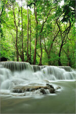 Póster, lienzo o cuadro en metacrilato Waterfall in forest of Thailand