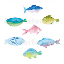 Póster, lienzo o cuadro en metacrilato Sweet watercolor fishes