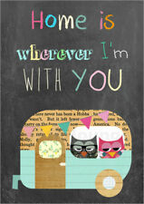 Póster, lienzo o cuadro en metacrilato Home is wherever I'm with you - GreenNest