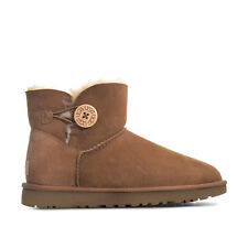 Womens Ugg Australia Mini Bailey Button Ii Boots In Chestnut