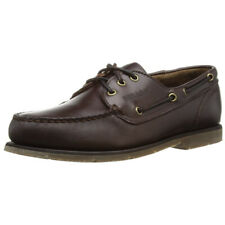 Sebago Foresider Mens Brown Leather Lace Up Leather Casual Smart Loafer Shoes