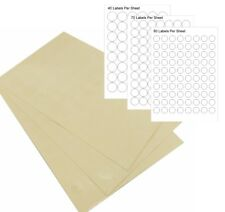 CLEAR TRANSPARENT Round Stickers Sticky Adhesive Circle Paper Seal Labels