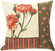 "NEW 18/"" TAPESTRY CUSHION COVER 4864 3 POPPIES BEAUTIFUL BELGIAN TAPESTRIES"