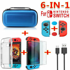 6 in 1 Carrying Case Bag+Clear Screen Protector Film+Cable For Nintendo Switch
