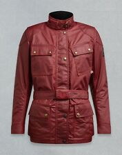 BELSTAFF LADIES CLASSIC TOURIST TROPHY RED WAXED COTTON MOTORCYCLE JACKET