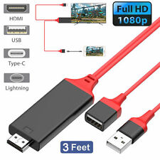 USB MHL To HDMI HD 1080 OTG TV Adapter Cable for Samsung Android iPhones Tablets