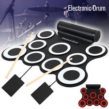 Tamburo elettronico portatile Digital USB 9 Pads Roll up Drum Set Kit batteria