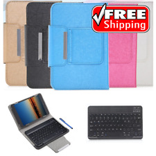 "Smart 10"" Tablet Case w/ Wireless Bluetooth Keyboard for iOS Androind Windows"