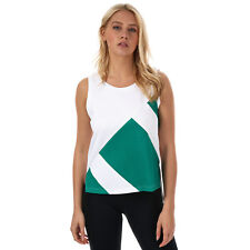 Womens adidas Originals Eqt Tank Top In White / Sub Green