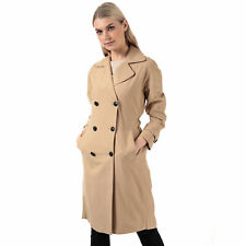 Womens Only Emilia Long Trench Coat In Incense