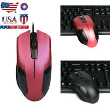 LED Wired1600DPI 3D Optical USB Gaming Mouse Mice For PC Laptop Scroll