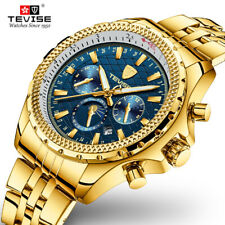 TEVISE Mens Stainless Steel Automatic Mechanical Waterproof Business Watch T841B