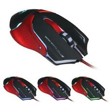 Wired Adjustable 3200 DPI LED Light Optical Gaming Mouse USB 6 Buttons Game Mice