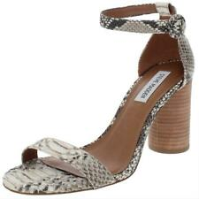 Steve Madden Womens Sara Leather Ankle Strap Dress Sandals Shoes BHFO 3075