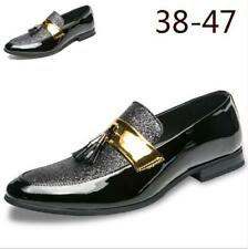 Mens Shine Patent Leather Tassel Pointy Toe Dress Formal Casual Shoes US 6-12 Nw