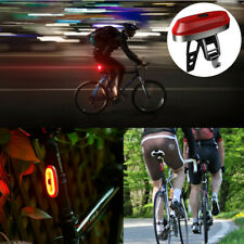 USB Rechargeable Bike LED Tail Light Bicycle Safety Cycling Warning Rear Lamp V