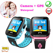 Waterproof SmartWatch GPS Tracker Monitor SOS Call for Kids Child Children Gift