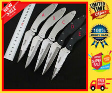 WoW Spyderco Knife C07 POLICE folding Knives blade VG-10 Tactical Multi EDC tool