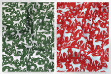 Christmas Polycotton Fabric (TCP880-Green-M)