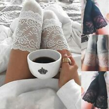 Fashion Women Sexy Stockings Lace Trim Thigh High Over The Knee Long Spring