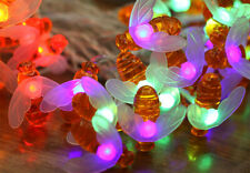 20LED Battery Operated Honey Bee String Light Christmas Holiday Party Decoration