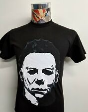 BRAND NEW MICHAEL MYERS HALLOWEEN BLACK & WHITE HORROR MOVIE BLACK T SHIRT