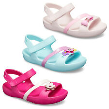 Crocs Lina Charm Flats Girls Summer Beach Sandal Kids Childrens Clogs UK4-3