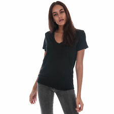Womens Levi's Essential V-Neck T-Shirt In Mineral Black