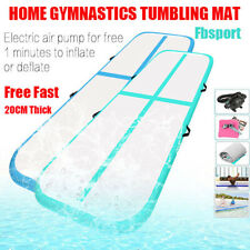 Airtrack Inflatable Air Track Floor Home Gymnastics Tumbling Mat GYM 20cm thick