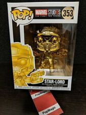 🏆FUNKO POP!🏆CHROME STAR LORD #353🏆MARVEL🏆FREE PROTECTOR🏆IN HAND FAST SHIP🏆