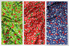 Christmas Polycotton Fabric (Design-1913-Red-M)