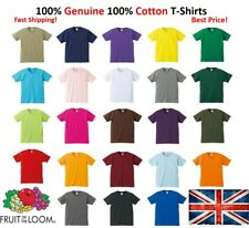 Fruit Of The Loom T-Shirt Short Sleeve Plain 100% Cotton Men/Women T Shirts