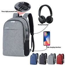 Anti-Theft  Unisex  Laptop Backpack Travel School Bag with USB Charging Port