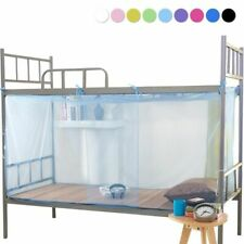 Mosquito Nets Polyester Dustproof Zipper Square Single Bed Student Dormitory