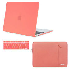 Macbook Pro 13 Touch Bar A2159 Hard Case w KB Cover + Laptop Sleeve Bag 2019