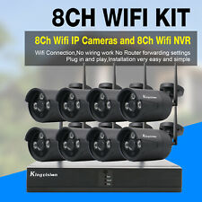 Wireless Security Camera System 8CH HD 1080P CCTV WIFI Kit NVR Outdoor