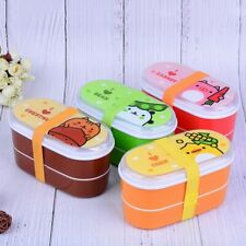Cartoon Designed Food Containers Plastic Bento Box 600ml Women Kids Lunch Box