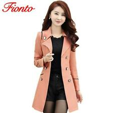 FIONTO Spring Autumn Trench Coat 2019 Turn Down Collar Casual Trench Coat Women