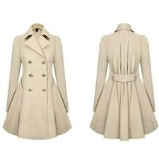 Women Trench Coat Spring Fashion Double Breasted Long Sleeve Ladies Trench Lapel