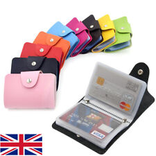 24 Slots Credit Card Holder PU Leather Pocket ID Business Card Case Wallet Purse