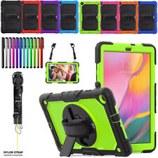 For Samsung Galaxy Tab A 10.1 2019 T510 T515 Kids Shockproof Case Cover w/ Strap