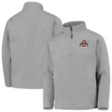 Ohio State Buckeyes Garb Youth Doug Quarter-Zip Pullover Sweatshirt - Heathered