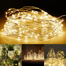 20 100 LEDs USB/Battery Operated Mini LED Copper Wire String Fairy Lights US