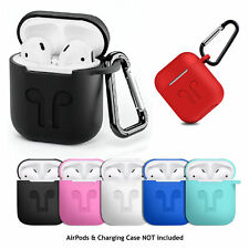 Silicone Protective Case Cover Key Chain Pouch for Apple Airpods Earphone RX