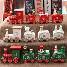 New Christmas Train Painted Wood Christmas Decoration for Home with Santa/bear X
