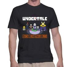 NEW UNDERTALE VIDEO GAME CHARACTERS BLACK T-SHIRT SIZE S-3XL USA SIZE