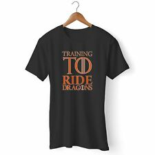 TRAINING TO RIDE DRAGONS WOMAN'S AND MAN'S T-SHIRT USA SIZE S-3XL